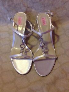 Pink Paradox London White Ivory Sandal Type Heel 8.5 (83)
