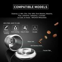 for Nespresso Stainless Steel Coffee Capsule Strainer Filter Reusable Refillable