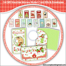 DISK 11 - 14 Gift Money Wallet Card Kits PLUS A BONUS TEMPLATE - CD-ROM