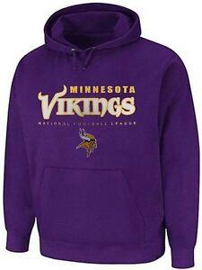 Minnesota Vikings NFL Mens Critical Victory Purple Pullover Hoodie Big Sizes