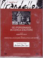 Dvd IL TEATRO DI PIRANDELLO ~ SEI PERSONAGGI IN CERCA D'AUTORE G.De Lullo nuovo