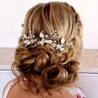 Weddings Hair Accessory Alloy Leaves Handmade Pearl Crystal Hairpins Hair Comb z