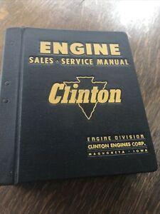 VIntage CLINTON ENGINE SALES, SERVICE MANUAL GOOD CONDITION Original!