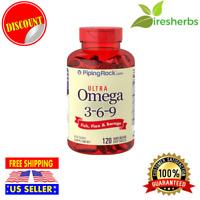 Omega 3-6-9 Fish, Flax & Borage Oil 3600mg Heart Health Supplement 120 Softgels