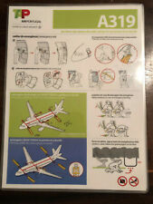 TAP Air Portugal Airbus A319 safety card