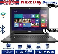 Lenovo G50-30 15.6-inch Laptop Intel Pentium 4GB RAM 2.16Ghz 250GB HDD Windows10