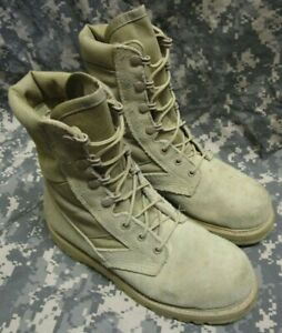 GENUINE US ARMY THOROGOOD DESERT TAN HOT WEATHER STEEL TOE COMBAT BOOTS. UK 4.5.