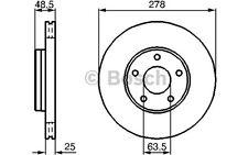 BOSCH Juego de 2 discos freno Antes 278mm ventilado VOLKSWAGEN 0 986 479 173