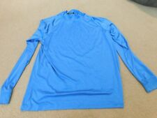 GREG NORMAN PLAY DRY BLUE LONG SLEEVE SHIRT SIZE LARGE