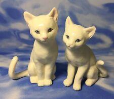 "Htf Lenox ""A Purrrfect Family"" 2pc Porcelain Kitty Cat Figurines #820524 Euc"
