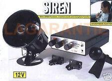 SIRENE AVEC PUBLIC-ADRESS + MICRO MICROPHONE AMPLIFICATEUR POUR VOITURE 12V 20W
