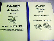 Raleigh Moped / RM4 / NEW Workshop manual+Spare parts list