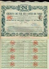 FRANCE FRENCH RAILROAD  CdF Chemin de Fer des Cotes du Nord Paris 1907
