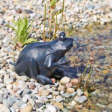 Wasserspeier Figur Frosch Wasser Speier für Teich Gartenteich Garten Element