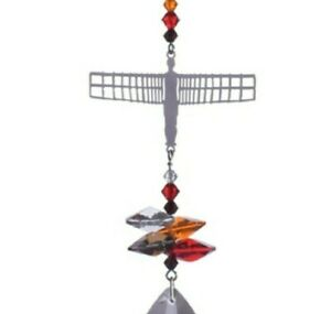 Angel of the North Crystal suncatcher car window hanging rainbow maker