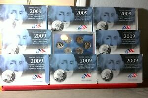 Lot of 8- packs of 2009 Dist of Columbia/ U S Territories Quarters Proof Sets