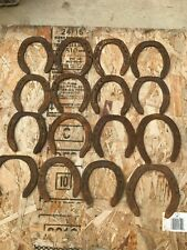 16 Various Sizes Rusty, Dust No Nails Horseshoes Bad Condition for Art
