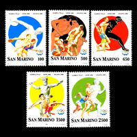 San Marino 1996 - 100th Anniversary of Modern Olympic Games - Sc 1344/8 MNH