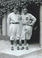 "Walter Johnson & Ty Cobb - 8"" x 10"" Photo - 1920's - Detroit Tigers - Senators"