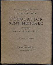 Oeuvres completes illustrées L'education sentimentale Flaubert 1922 numeroté