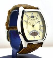 Designer Croton Men's Quartz Watch With Lizard Band