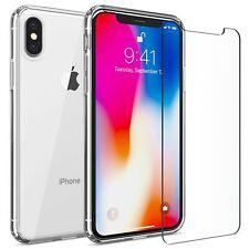 Iphone X Xs Funda Transparente Funda Rigida Tpu Parachoques Y Protector De P...