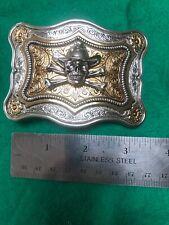 Cowboy Skull Belt Buckle 1-1.5 Inch.