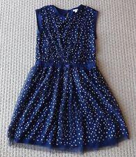 CREWCUTS GIRLS Tulle Overlay Celestial Metallic Stars Party Dress 16 Yrs F9437