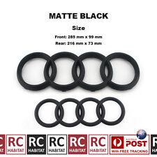 MATTE BLACK BADGE COMBO GRILLE & REAR AUDI RINGS FOR AUDI Q3 Q5 Q7
