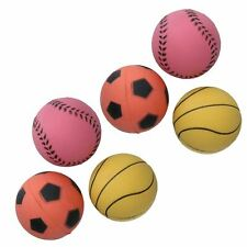 Dog Play Time Rubber Bouncy Sports Balls 6pk
