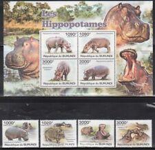 Burundi Animals Stamp Lot - 7 Complete Mint NH Sets