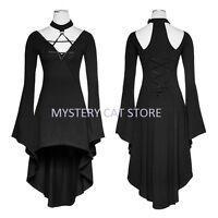 New PUNK RAVE Gothic Rock Spider Web Lace Coat Dress Black Y732 AUSTRALIAN STOCK