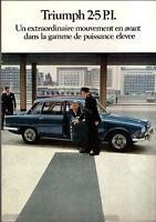 Depliant brochure catalogue TRIUMPH 2.5 P.I 25 PI  francais