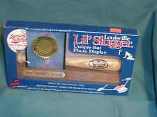 skillcraft official Louisville Slugger 7 1/4 bat picture frame woodbase new seal