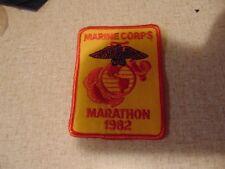 MILITARY PATCH SEW ON USMC MARINE CORPS MARATHON 1982