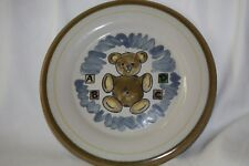 Louisville Stoneware Bear Plate Art Pottery ABC  Made in Kentucky