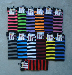 Womens Over the Knee Striped Socks 13 Colors to Choose Halloween