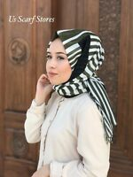Cotton Muslim Hijab, Cotton Scarf, Turkish Hijab Square Box Designed Hijab