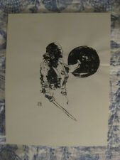 ORIGINAL 1999 JEFF JEFFREY JONES PIRATE INK ART FRAZETTA HOWARD PYLE NC WYETH NR