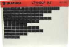 Suzuki LT-F400F Eiger 4WD 2002 Parts Catalog Microfiche s520