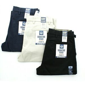 Mens Dockers D2 Trousers size 79 x 81 32 Casual Cotton Pants Navy Blue