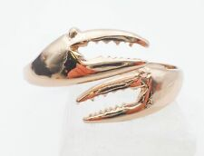 Rose-Tone Polished Lobster Claw Pincher Legs Hinged Bypass Bangle Bracelet 7