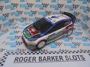 """Scalextric C3347 Ford Fiesta WRC """"Abu Dhabi"""" #4  DPR  Exc"""