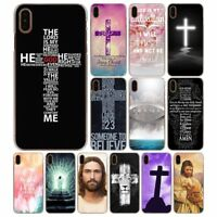Jesus christ christian cross rigid case for iPhone 5s SE 6s 7 8 Plus X XS Max XR