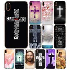 Jesus christ christian cross rigid case for iPhone 5s SE 6s 7 8 Plus X XS Max XR