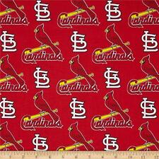 St. Louis Cardinals Fabric MLB Baseball  Cotton New Navy Red White  BTFQ