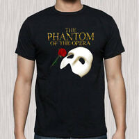 New Phantom of The Opera Musical Opera Logo Men's Black T-Shirt Size S to 3XL
