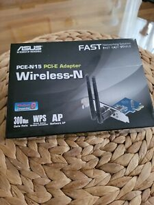 NEW Asus PCE-N15 PCI Express Wireless-N Adapter Card PCI-E 300Mbps WPS