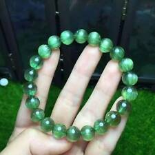 9mm Natural Green Apatite Cat Eye Crystal Round Beads Bracelet AAAA