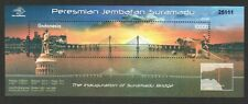 INDONESIA 2009 INAUGURATION OF THE SURAMADU BRIDGE SOUVENIR SHEET 1 STAMP MINT